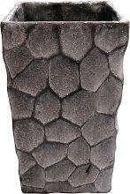 Übertopf, Blumentopf CIRKELS grau H. 26cm D. 11cm