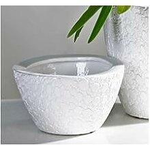 Übertopf Blumentopf Vase ANTIGUA weiß H. 10cm D.