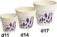 Übertopf Lavendel aus Keramik Auswahl (d11cm)