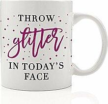 Überwurf Glitter in der heutigen Face Tasse Lila