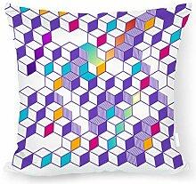 Überwurfkissen, quadratisches Muster, Dekokissen