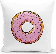 Überwurfkissen, rosa Sprinkle Donut-Kissen,