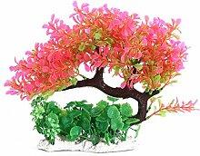 UEETEK Aquarium Künstliche Pflanze Baum Fisch Tank Dekoration