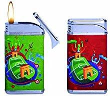 UEFA 40401936Stade Feuerzeug Metall rot/grün 2Stück