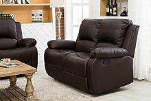 UEnjoy Klassische Sofa Luxuriös Sessel Couch PU