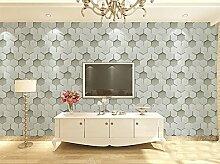 Ufengke® 3D Modern Minimalistische Geometric Bienenwabe Muster PVC Tapeten Wandbilds Für Restaurant Cafes Wohnzimmer Schlafzimmer TV Hintergrund