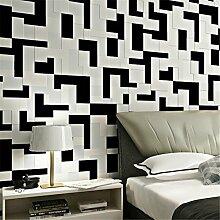Ufengke® 3D Relief Modern Minimalistische Mosaik Muster Vliesstoff Tapeten Wandbilds Für Hotels Studie Wohnzimmer Schlafzimmer TV Hintergrund