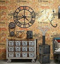 Ufengke® 3D Retro Brief Ziegelmuster PVC Tapeten Wandbild Für Restaurant Cafes Bar Wohnzimmer Schlafzimmer