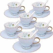 ufengke 4oz Kaffeetasse Set, Porzellan Kaffee Tee