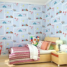 ufengke® Cartoon Tapete Auto Vliesstoff Gestreift Wandbilder Für Kinderzimmer Kinderzimmer