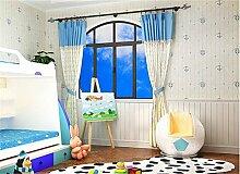 ufengke Karikatur Mittelmeer Anker Vertikale Streifen Vliesstoff Tapeten Wandbilder Für Kinderzimmer Kinderzimmer