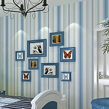 Ufengke® Mediterraner Stil Einfache Vertikale Streifen Vliesstoff Tapeten Wandbilds Kunst Dekoration Für Kinderzimmer Studie Schlafzimmer Wohnzimmer