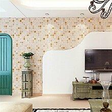 Ufengke® Mediterraner Stil Modern Minimalistische Mosaik Muster Beflockung Geprägt Vliesstoff Tapeten Wandbilds Für Hotels Studie Wohnzimmer Schlafzimmer TV Hintergrund