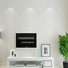 ufengke® Moderne Simple Dick Reine Farbe Vliestapete Streifen Tapete Wandbild Für Wohnzimmer Schlafzimmer TV Hintergrund, weiß