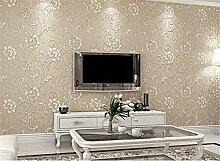 ufengke Moderne Simple Romantische Reine Farbe Extradicke Vliesstoff 3D Blume Muster Tapeten Wandbild Für Wohnzimmer Schlafzimmer TV Hintergrund