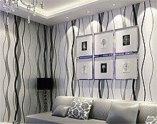 ufengke Moderne Simple Vliesstoff 3D-Kurve Muster Tapeten Wandbild Für Wohnzimmer Schlafzimmer TV Hintergrund