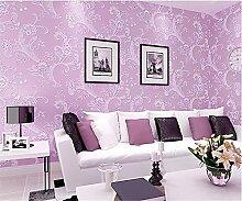 ufengke Pastoralen Stil 3D-Blumenmuster Vliesstoff Garten Tapeten Wandbild Für Wohnzimmer Schlafzimmer TV Hintergrund