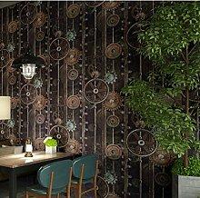 Ufengke® Retro England Stil Industriell Gang Muster Persönlichkeit PVC Tapeten Wandbild Für Restaurant Kleidung Geschäft Cafes Wohnzimmer