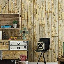 Ufengke® Retro Nachahmung Holzmaserung PVC Tapeten Wandbild Für Restaurant Cafes Kleidung Geschäft Wohnzimmer Schlafzimmer