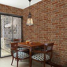 Ufengke® Retro Ziegelmuster PVC Tapeten Wandbild Für Restaurant Kleidung Geschäft Wohnzimmer Schlafzimmer