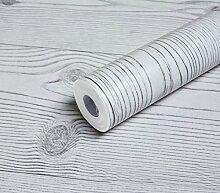 Ufengke® Selbstklebend Retro Nachahmung Holzmaserung PVC Tapeten Wandbild Für Küche Restaurant Wohnzimmer Schlafzimmer TV Hintergrund