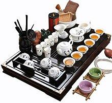 ufengke-ts Keramik Kung Fu Tee Set Mit Hölzernem