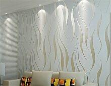 ufengke Vliesstoff Beflockung Bronzing Modern Simple 3D-Ripple Muster Tapeten Wandbild Für Wohnzimmer Schlafzimmer TV Hintergrund