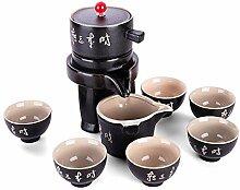 Ufine Chinesische Keramik Gongfu Tee Set Schwarz