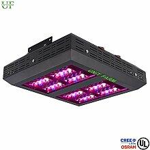 UFO 80CREE & Osram LED Grow Light–Pflanzenlampe Lampe für Pflanzen Hydrokulturen–Kontrollschalter für Vegetation und Blüte. 8184Lumen und 1469.2umol. Maximale Abdeckung 4.6Ft x 5.2F