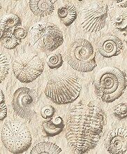 UGEPA Vinyltapete Fossilien, Beige, J86208