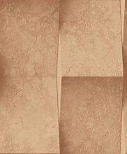 UGEPA Vinyltapete Marmorfliese, Braun, J93508