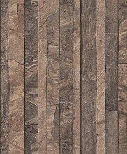UGEPA Vliestapete Granitplatten, braun, J86708