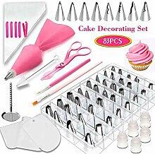 UHAPEER 83 Teiliges Spritztüllen Cupcake
