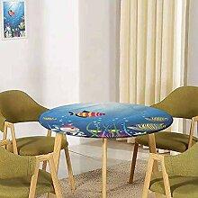 UHOO2018 Aquarium-Tischdecke mit elastischem Rand