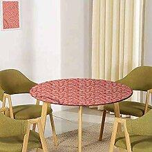UHOO2018 Florale, runde Tischdecke, elastischer