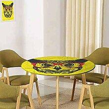 UHOO2018 Moderne runde Tischdecke mit elastischen