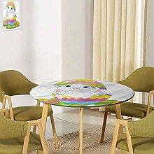 UHOO2018 Ostern Tischdecke mit elastischem Rand