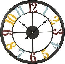 Uhr aus Metall bunt D.45
