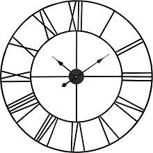 Uhr aus schwarzem Metall D.88