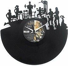 Uhr Fitnesscenter, Eröffnung Fitnessstudio Geschenkidee Uhr aus Vinyl Schwarz Vinyluse original