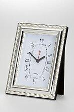 Uhr mit Wecker und Samtrückwand groß