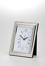 Uhr mit Wecker und Samtrückwand klein