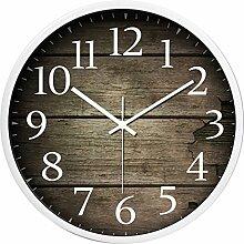Uhr Vintage, Likeluk 14 Zoll(35cm) Lautlos Vintage Wanduhr Wall Clock Uhr Ohne Ticken