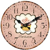 Uhr Wanduhr CUPCAKE ROSA aus Holz Ø 34cm rosa My Flair
