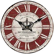 Uhr Wanduhr KRONE aus Holz Ø 34cm rot My Flair