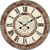 Uhr Wanduhr LOVE Ø 34cm aus Holz Grau My Flair