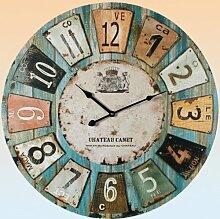 Uhr Wanduhr Romantik Landhaus 60 cm Vintage Antik