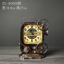 Uhr, Wecker, Bügeleisen im amerikanischen Stil Schlafzimmer desktop Jong-Jewelry retro TV-Schrank Persönlichkeit Ornamente, ZD-160008).