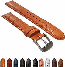 Uhrenarmband für Herren, 22 mm, echtes Leder,
