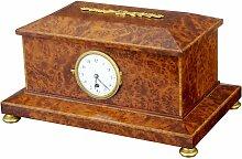 Uhrenbox aus Eibe-Wurzelholz, 1920er